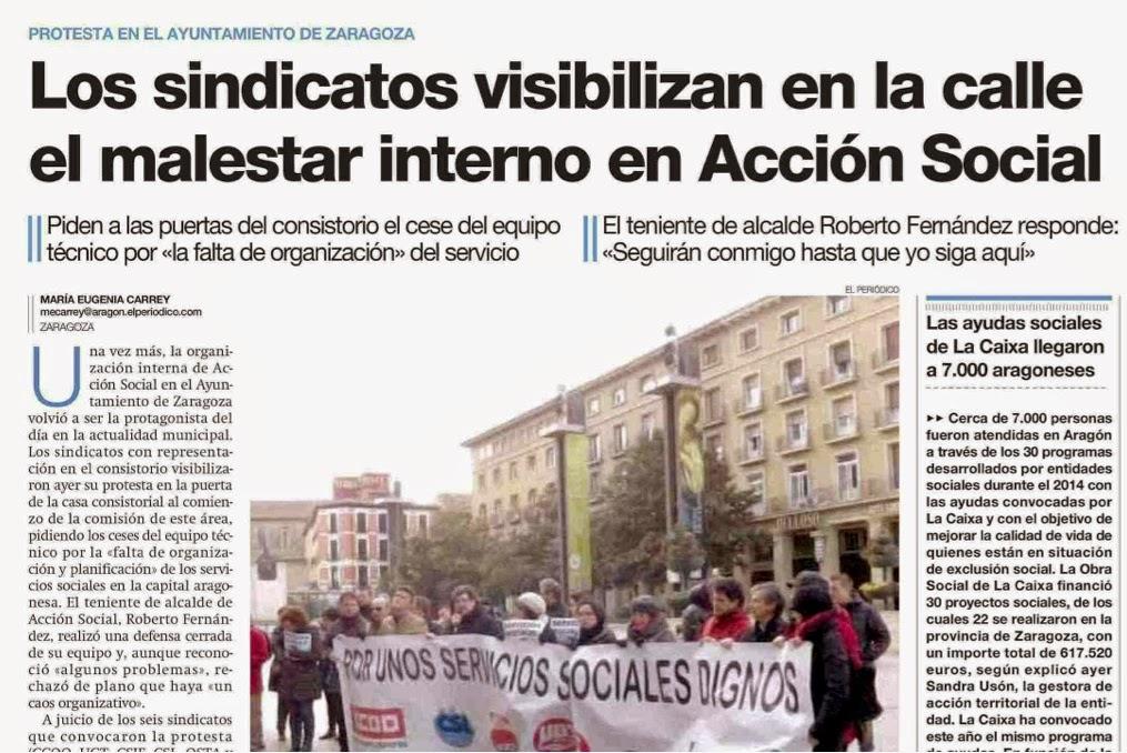 Concentración profesionales servicios sociales zaragoza