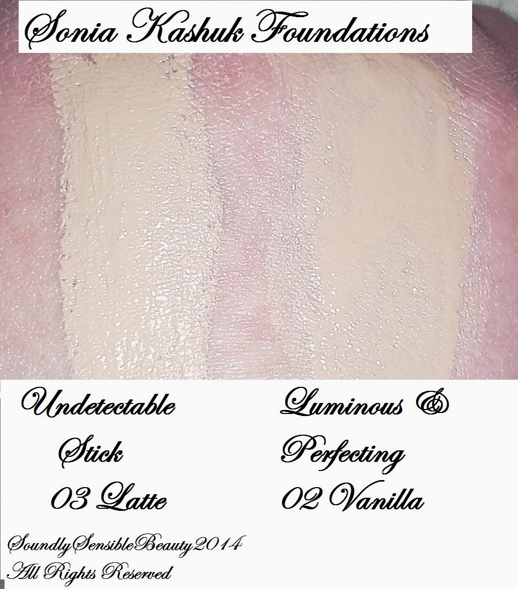 Undetectable Foundation 03 Latte, Luminous Foundation 02 Vanilla