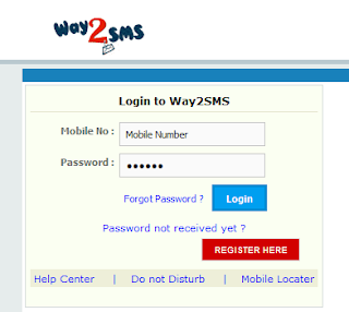 login to way2sms