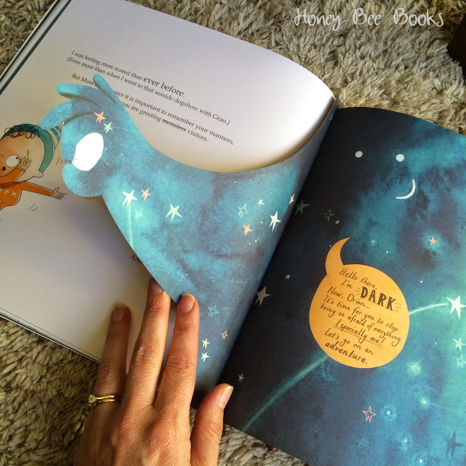 Die-cut pages from Orion and the Dark by Emma Yarlett