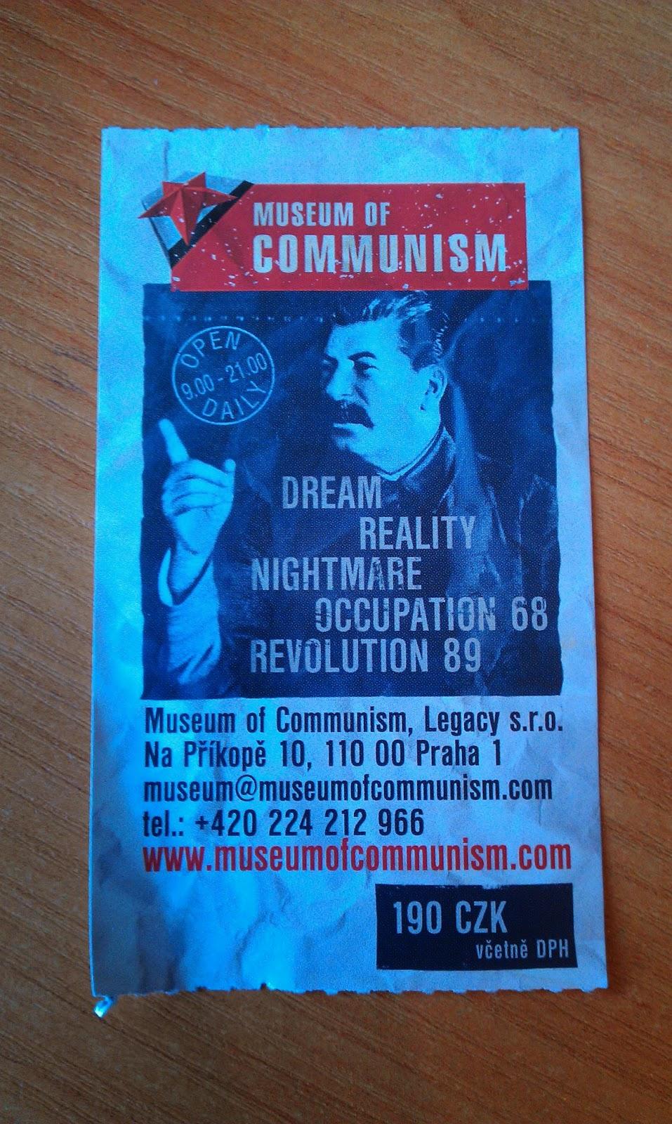 Пражский музей коммунизма.