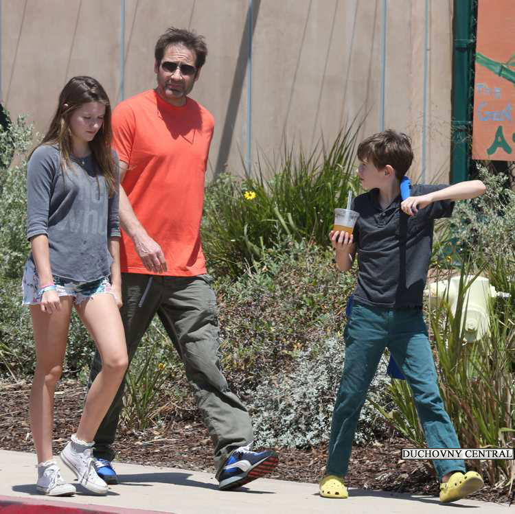David Duchovny out wit...