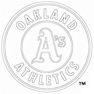 Escudo Atleticos de Oakland para colorear
