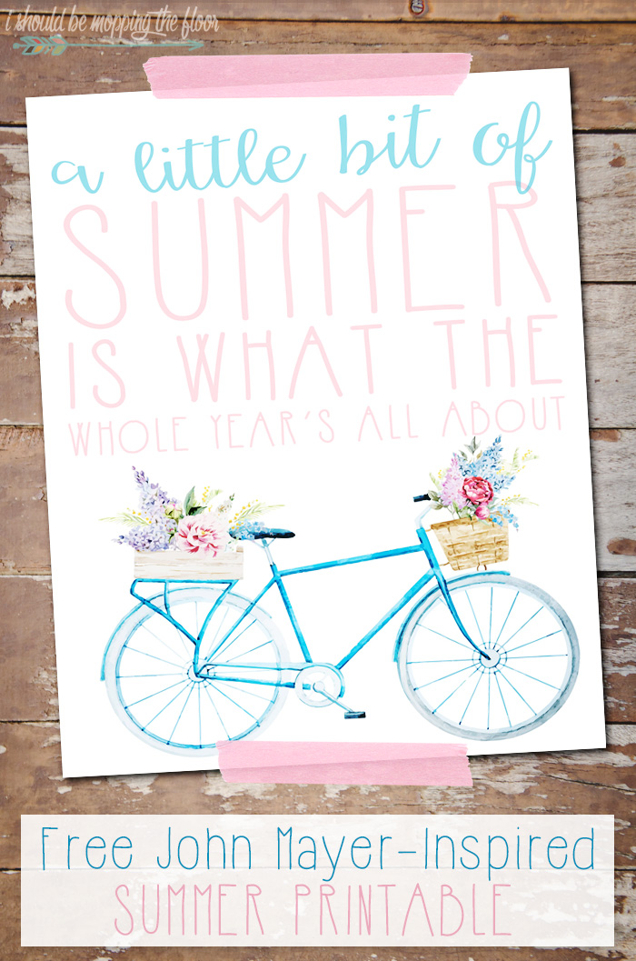 Free Summer Printable | 8x10 Instant Download | Inspired by John Mayer's Wildfire Lyrics