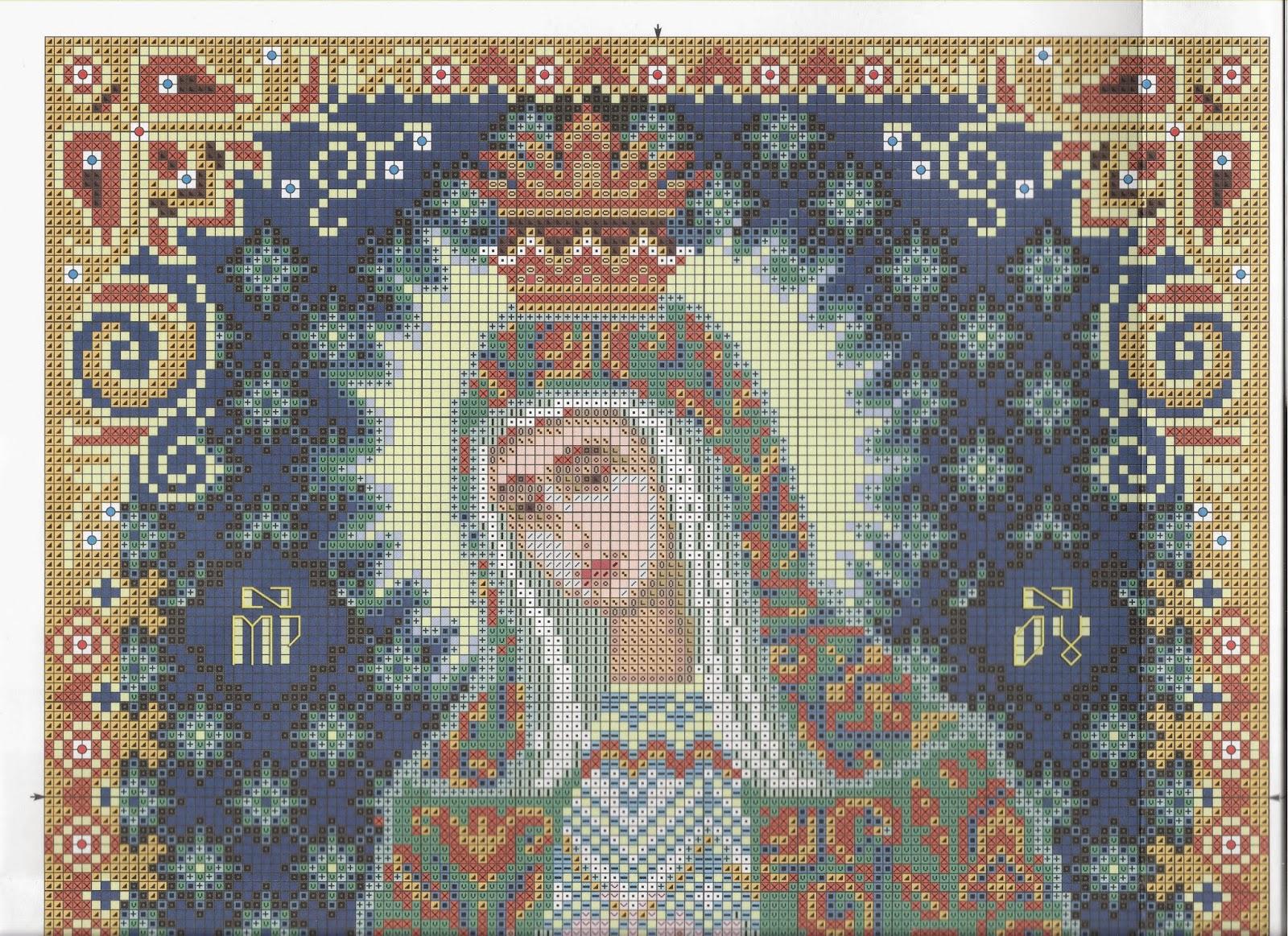 Схема вышивки иконы крестом остробрамская богородица 6