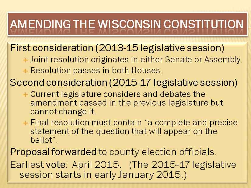 Retiring guy 39 s digest current proposal to eliminate - Wisconsin legislative reference bureau ...