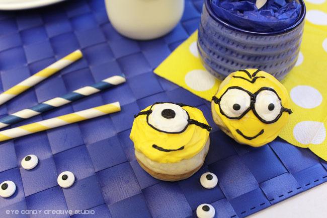 minions goggles, how to make minions donuts, minions movie treat