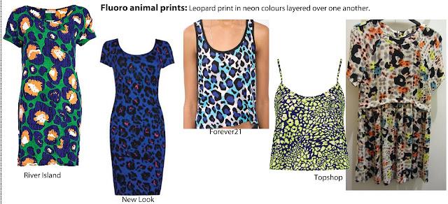 animal print, leopard print, neon, fluorescent