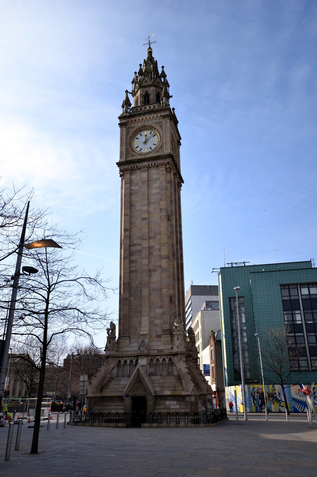 Albert Memorial clock, Belfast, Ireland, Northern Ireland, Murals, Troubles, Ulster, Political, Titanic,