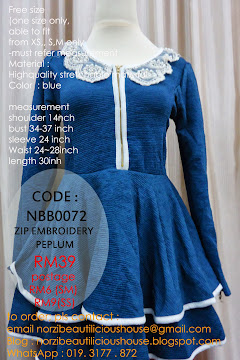 ALL SOLD OUT ~NBB0072 ZIP EMBROIDERY PEPLUM