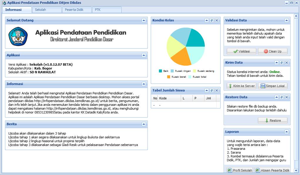 Aplikasi Pendataan Siswa Terbaru/ Dapodik