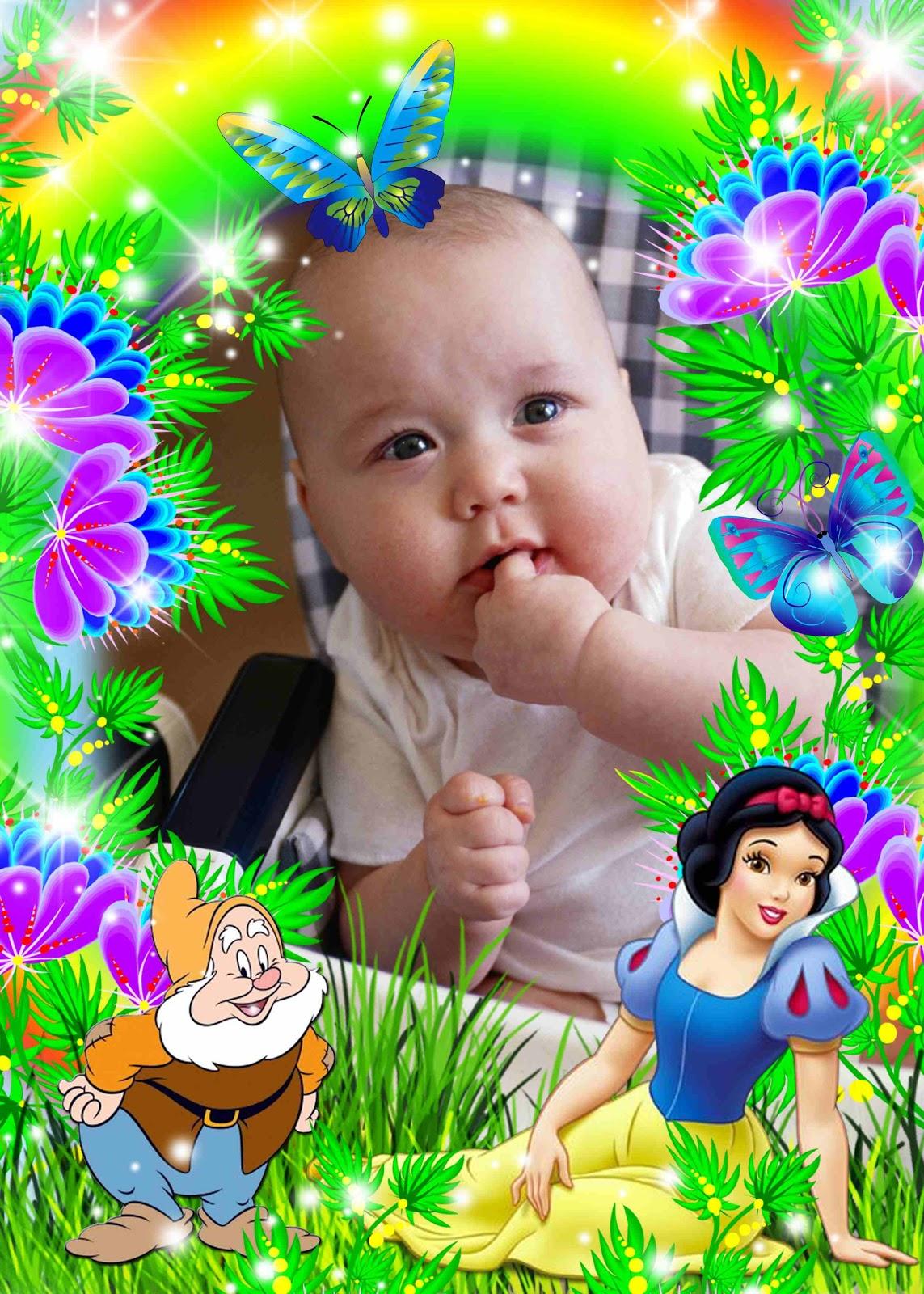 Moldura PSD PNG Flores E Princesa