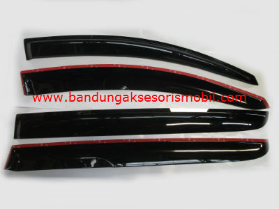 Talang Air All New Sportage Mugen Hitam 3M Depan Belakang