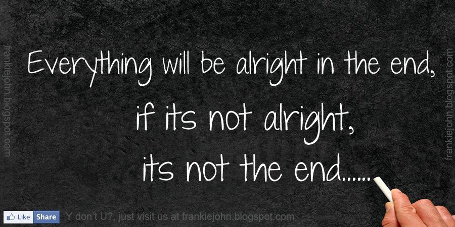 Everything will be alright quotes facebook cover
