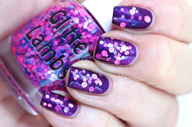 "Glitter Lambs ""The Bing Bong Song"" Glitter Topper Nail Polish  by @LacqueredLori"