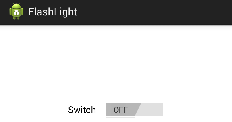 ramsandroid: FlashLight Example in Android