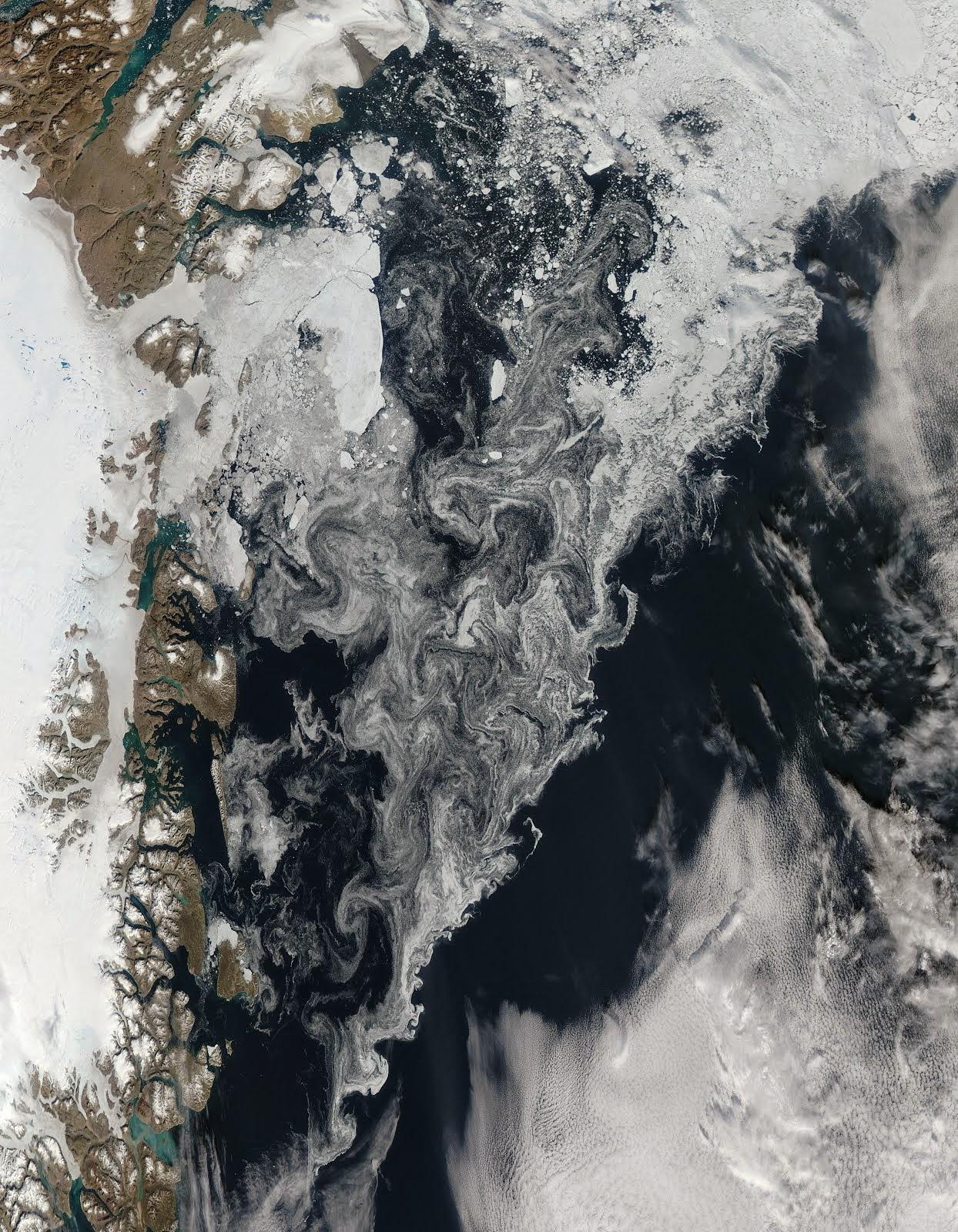 آب، یخ، برف، خاک، ابر