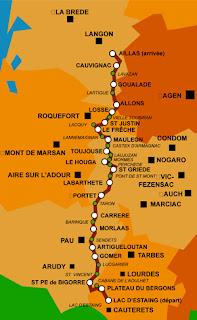 parcours de la route de la transhumance 2013