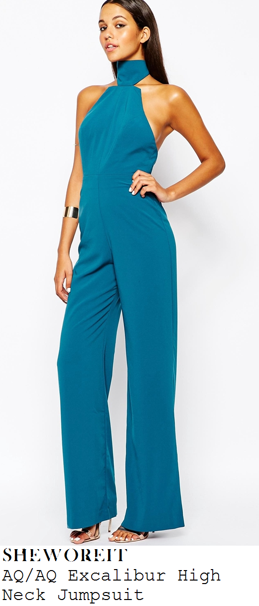 vicky-pattison-teal-blue-high-neck-wide-leg-jumpsuit