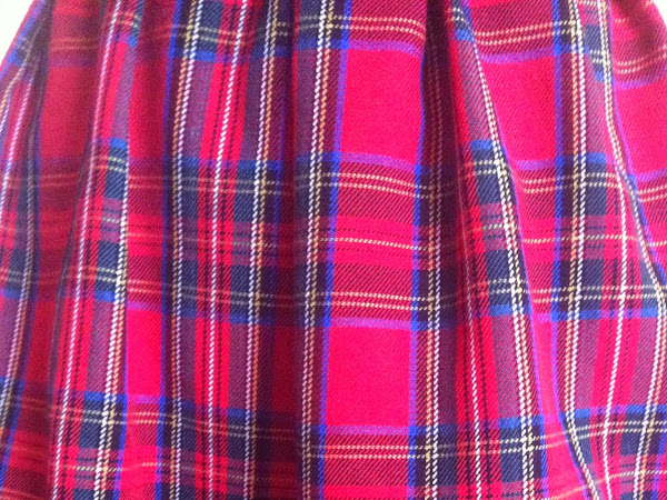 The me made tartan skirt