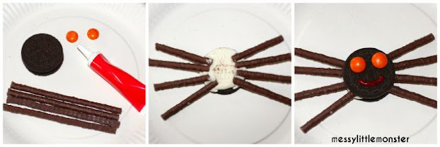 How to make a simple spider biscuit
