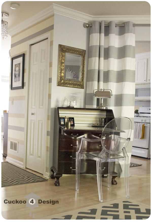 grey overstock rug, grey chevron ballard design rug, secretary desk