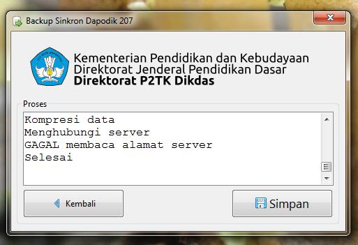 Gagal membaca alamat server