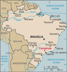 Map of Campinas, Brazil Mission