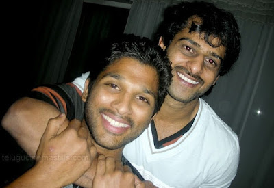 Rebel StarPrabhas with Stylish Star Allu Arjun