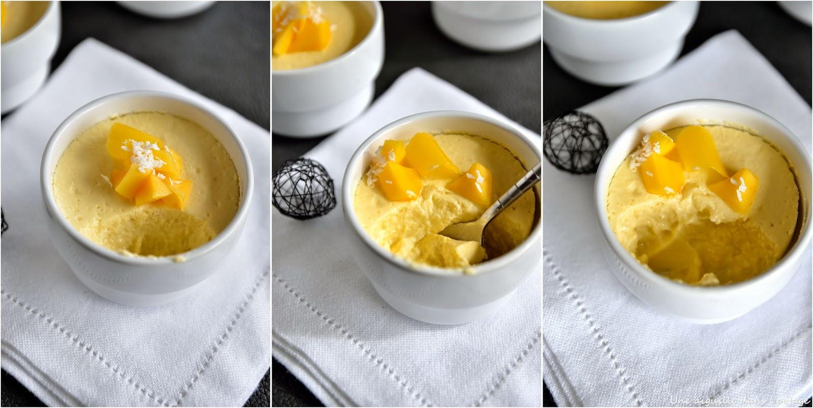 crème dessert mangue