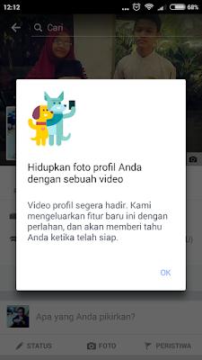Cara Mengganti Atau Memasang Foto Profil Facebook Bergerak