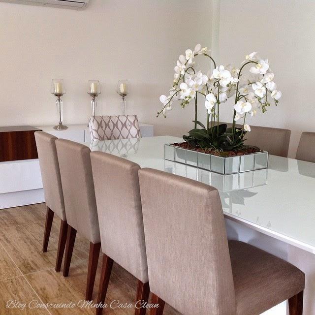Construindo minha casa clean salas de jantar decoradas for Mesas de centro bonitas