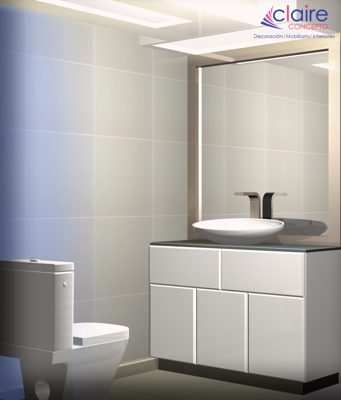 Dise os de ba os modernos y minimalistas azcapotzalco Diseno de interiores de banos modernos