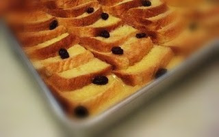 Bread And Butter Pudding With Classic Custard Sauce