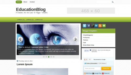 Free Blogger Template: Education Free Blogger Template