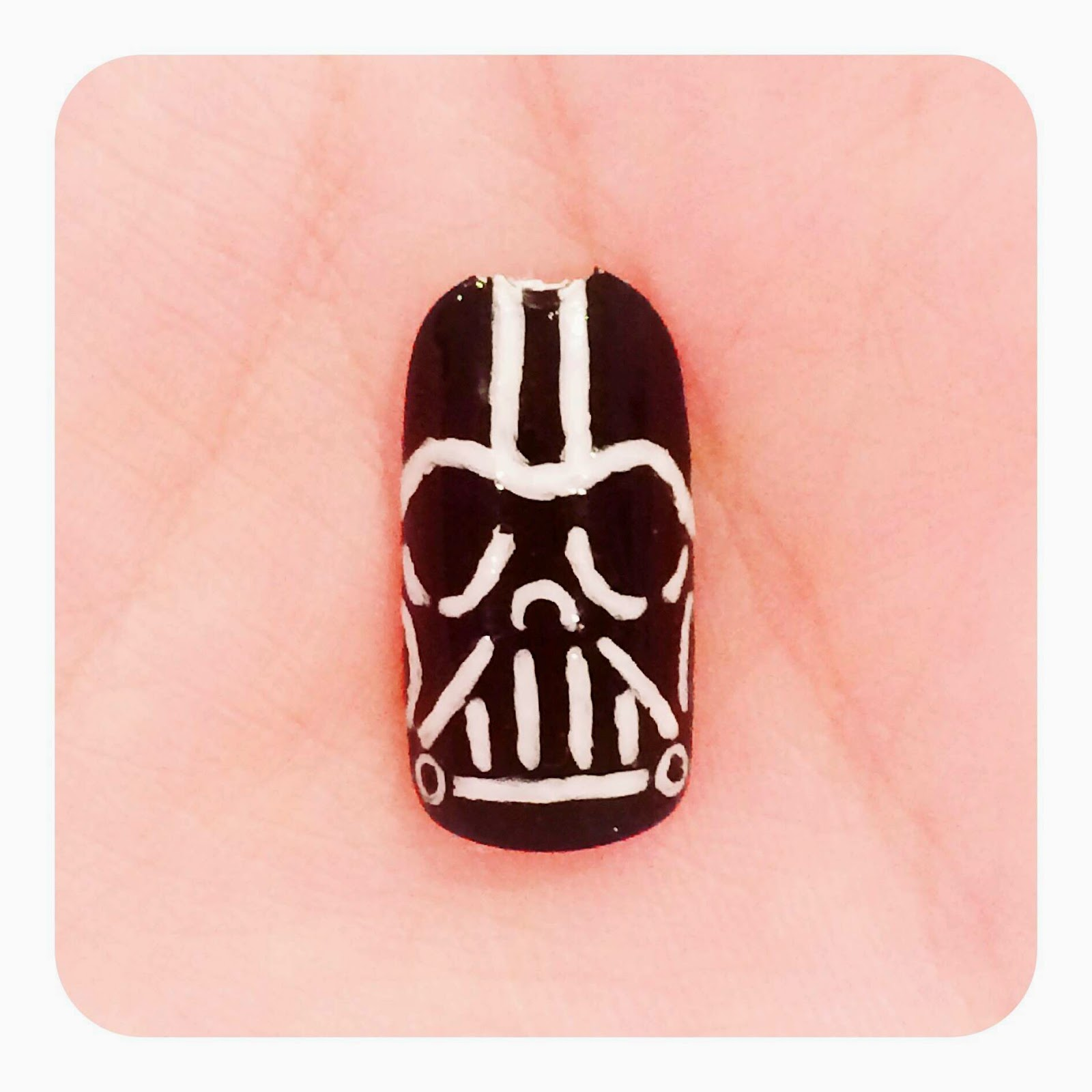 The Polish Geek: Star Wars Darth Vader inspired nail art (Tutorial)!!