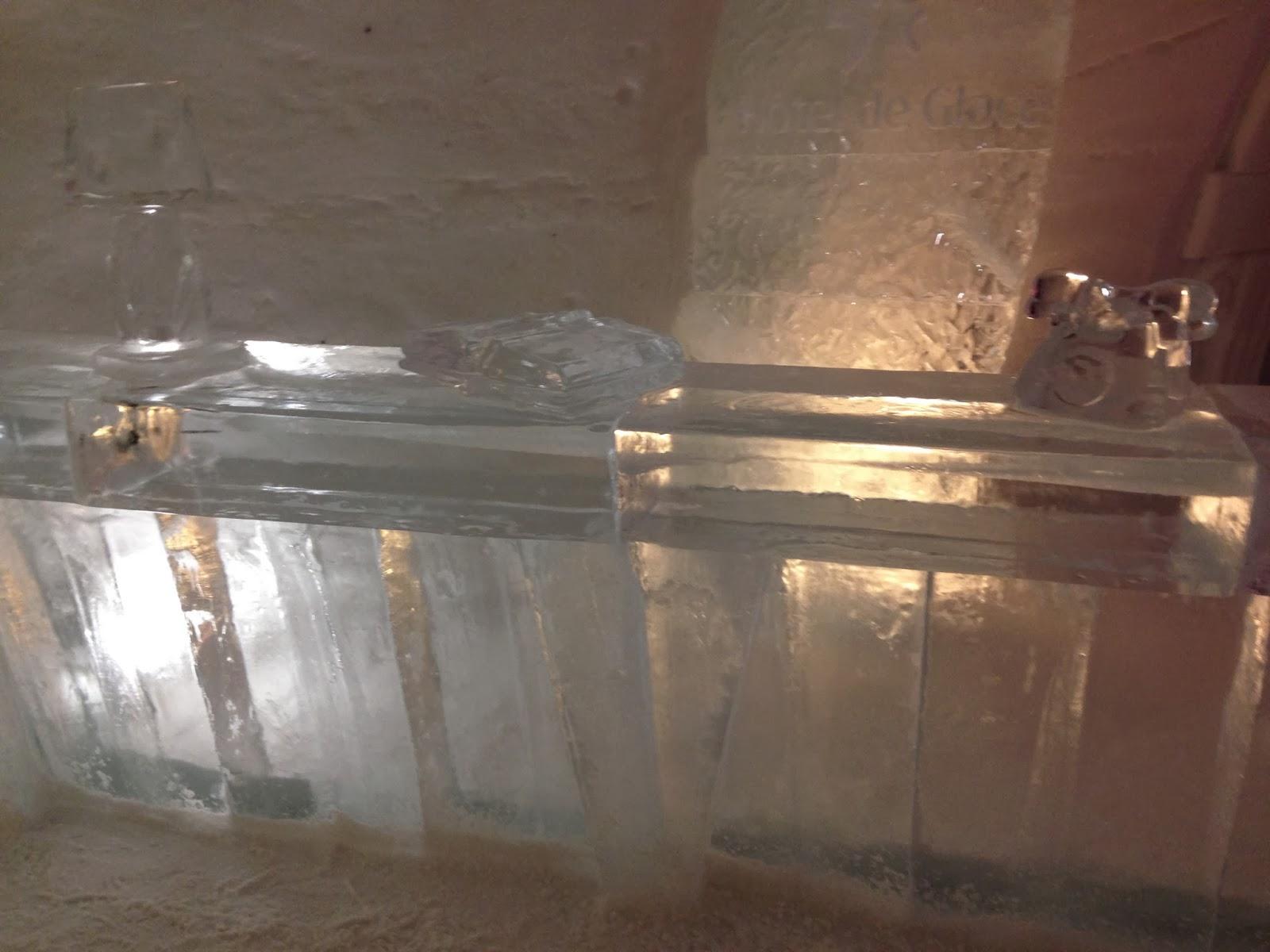 Hotel De Glace ice lobby