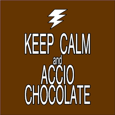 When things start to get out of control and you need a little help, Keep calm and Accio chocolate to help you deal with the personal dementors in your life.  Such a great idea from the mind of JK Rowlings and Harry Potter.
