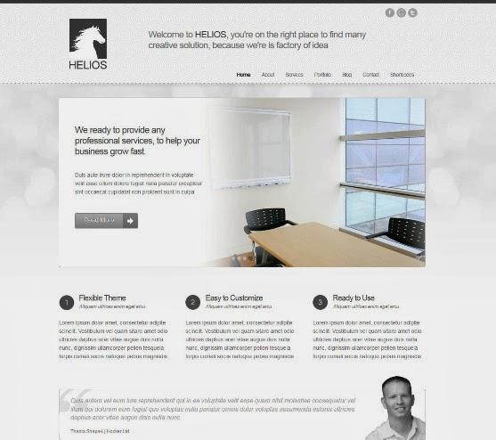 Helios Minimalist WordPress Theme