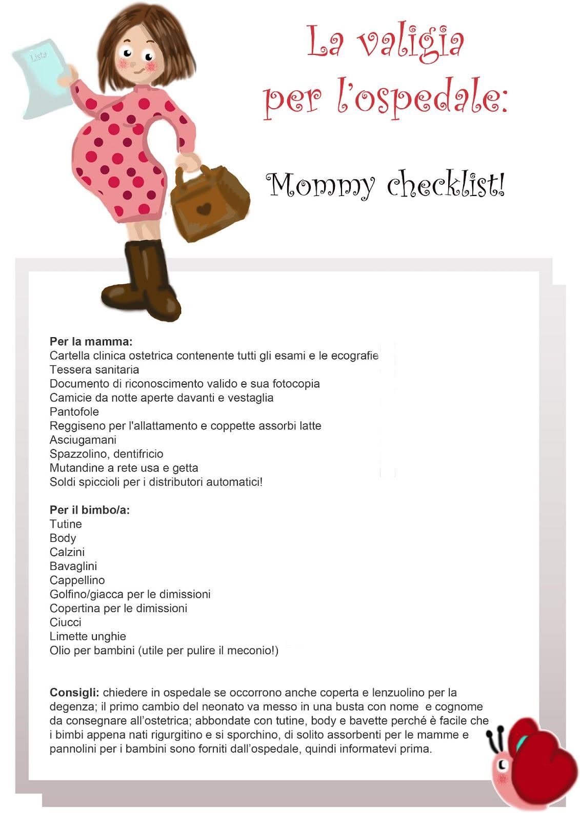 Célèbre Il Mondo da scoprire: Mommy checklist: la valigia per l'ospedale QM09