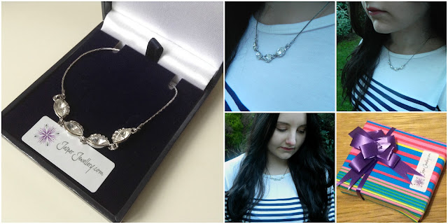 Review: Jasper Jewellery Platinum Swarovski Crystal Necklace