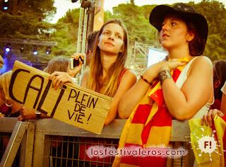 Fans de Cali en el Festival Les Déferlantes Sud de France 2015