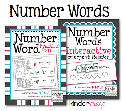 Fun, age appropriate practice for number words $