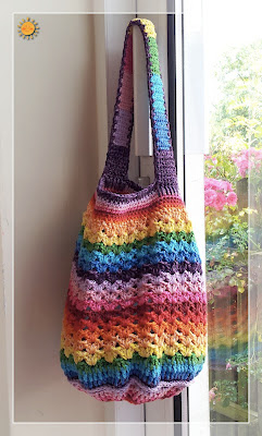 free crochet rainbow bag pattern