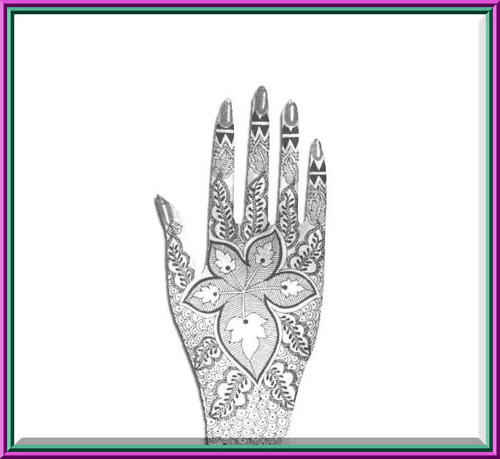 mehndi designs for hands for marriage. Perch and Arabic henna designs