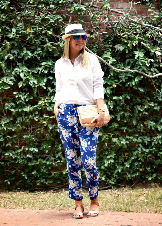 Summer Floral Pants