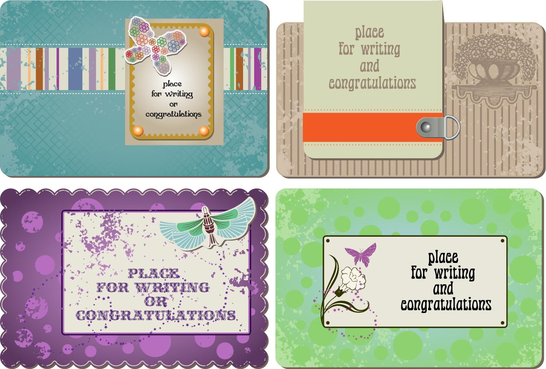 飾り付けたカード テンプレート greeting cards pattern background イラスト素材