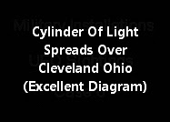 Cylinder Of Light Spreads Over Cleveland Ohio (Excellent Diagram)