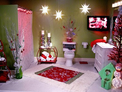Christmas Bathroom Decor On Fun Christmas Theme Decorating Ideas Here