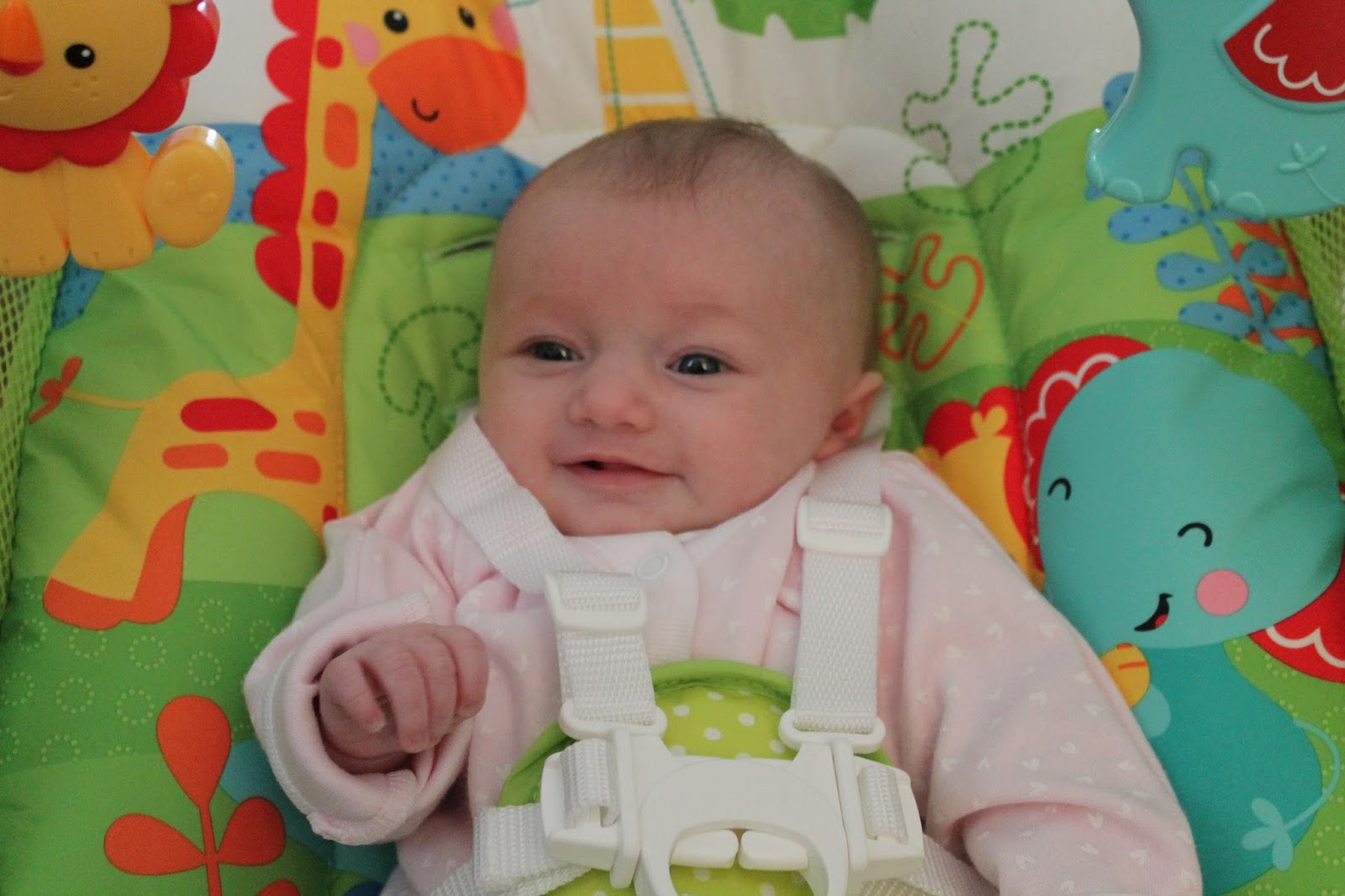 Baby using Fisher Price Swing